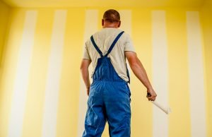 interior painter painting wall white
